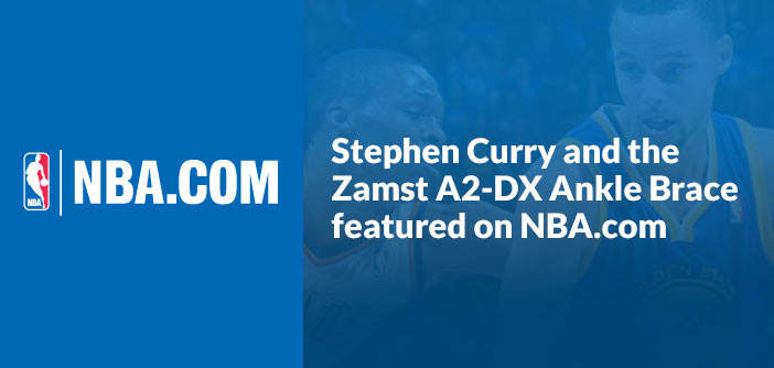 NBA.com features Stephen Curry and A2-DX Ankle Brace