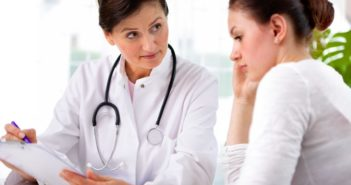 14655270 - doctor explaining diagnosis to her female patient